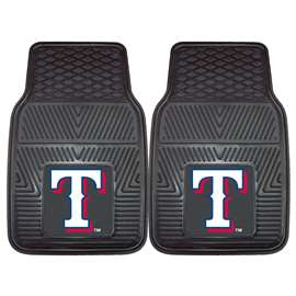 "MLB - Texas Rangers 2-pc Vinyl Car Mats 17""x27""  2-pc Vinyl Car Mat Set"