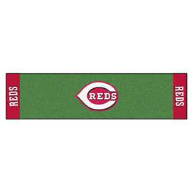 "MLB - Cincinnati Reds Putting Green Runner 18""x72""   Putting Green Mat"