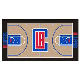 NBA - Los Angeles Clippers  NBA Court Large Runner Mat, Carpet, Rug