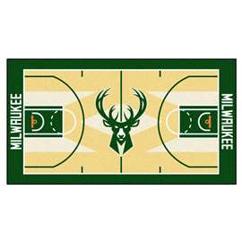 NBA - Milwaukee Bucks  NBA Court Large Runner Mat, Carpet, Rug