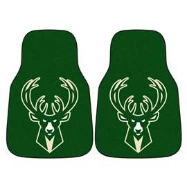 NBA - Milwaukee Bucks  2-pc Carpet Car Mat Set