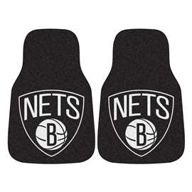 NBA - Brooklyn Nets  2-pc Carpet Car Mat Set