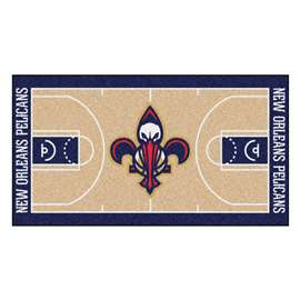 NBA - New Orleans Pelicans  NBA Court Large Runner Mat, Carpet, Rug