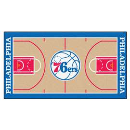 NBA - Philadelphia 76ers  NBA Court Large Runner Mat, Carpet, Rug