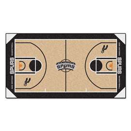 NBA - San Antonio Spurs  NBA Court Large Runner Mat, Carpet, Rug