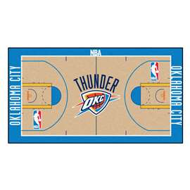 NBA - Oklahoma City Thunder  NBA Court Large Runner Mat, Carpet, Rug