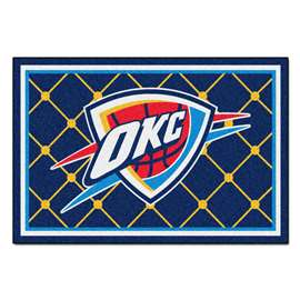 NBA - Oklahoma City Thunder  5x8 Rug Rug Carpet Mats