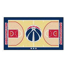 NBA - Washington Wizards  NBA Court Large Runner Mat, Carpet, Rug