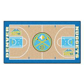 NBA - Denver Nuggets  NBA Court Runner Mat, Carpet, Rug