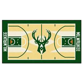 NBA - Milwaukee Bucks  NBA Court Runner Mat, Carpet, Rug
