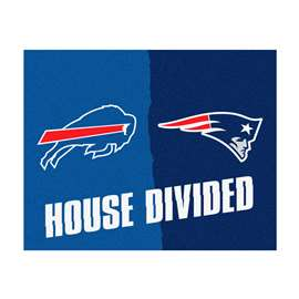 NFL House Divided - Patriots / BillsFloor Rug Mats