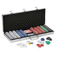 Fat Cat 500Ct Texas Hold'Em Dice Poker Chip Set