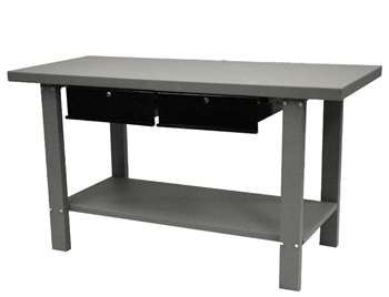 Homak Automotive Steel Workbench W/ 2 Drawers, Gray