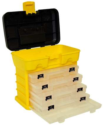 Homak 10-Inch Plastic Portable Parts Organizer, Small, Yellow