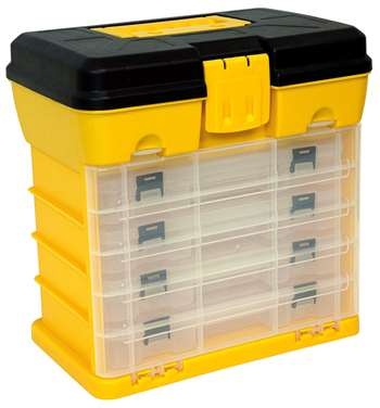Homak 12-Inch Plastic Portable Parts Organizer, Small, Yellow