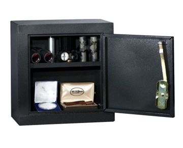 HOMAK Upper Add On Security Gun Cabinet, Gloss Black