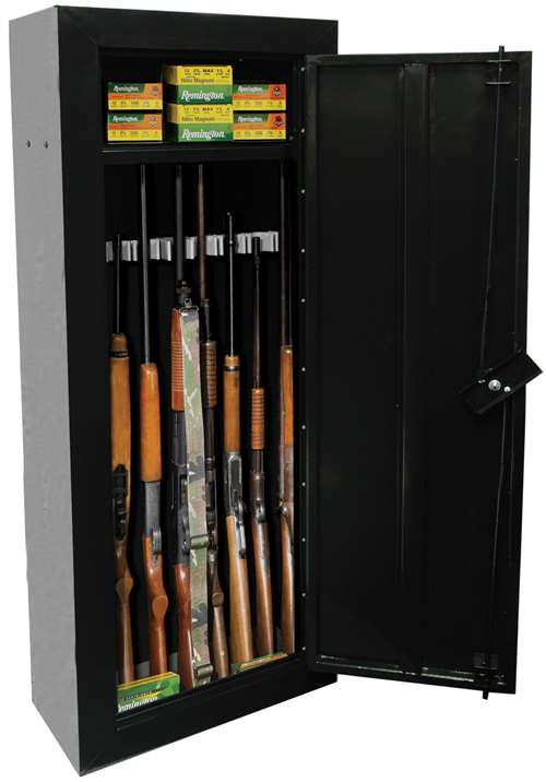 First Watch 8 Gun  Cabinet - Steel - Black