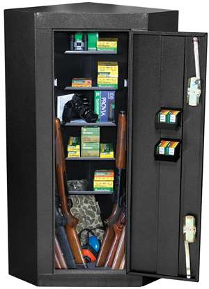 First Watch 10-GUN CORNER STEEL CABINET - BLACK