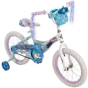 "Huffy Disney Frozen 16"" Bike with Handlebar Bag 2018 Model Bicycle"