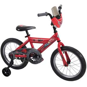 "Huffy Disney Cars 3 16"" Boys Bike with Race-Ready Tire Case 2019 Model"