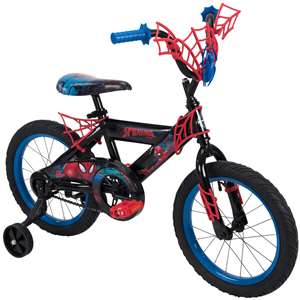 "Huffy Marvel Spider-Man 16"" Boys Bike with WebTrap Handlebar Plaque 2019 Model"