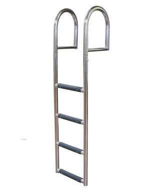 JIF Marine 4-Step Stationary Dock Ladder Stainless 316 Boat - Dock Ladder