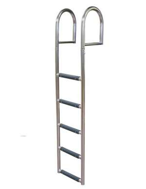 JIF Marine 5-Step Stationary Dock Ladder Stainless 316 Boat - Dock Ladder