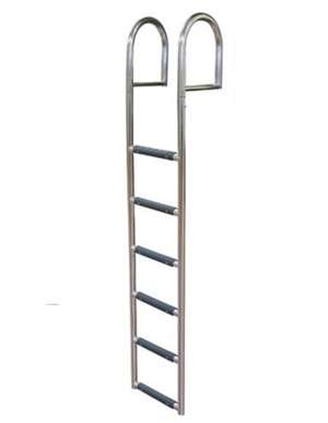 JIF Marine 6-Step Stationary Dock Ladder Stainless 316 Boat - Dock Ladder
