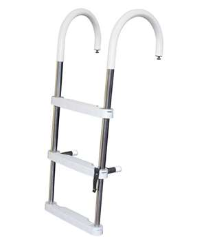 JIF Marine 3-Step Telescoping Ponton Ladder Stainless 316 Boat - Dock Table
