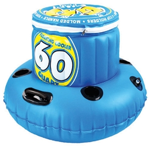SPORTSSTUFF Inflatable Floating Cooler, 60 Quart  Blue 60qt.