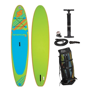 "SPORTSSTUFF ADVENTURE 4 ISUP (Brownbox)  Green/Blue 10'6"" x 34"" x 4"""