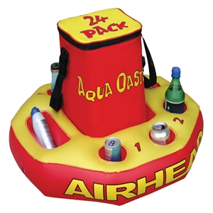 AIRHEAD AQUA OASIS Beverage Cooler  Red / Yellow X