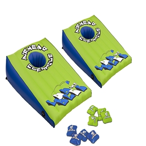 "AIRHEAD LOB THE BLOB Cornhole Game   Green / Blue 37"" x 26"""