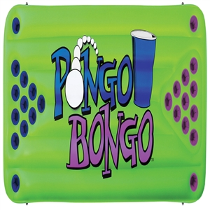 "AIRHEAD PONGO BONGO Beer Pong Table, 2 balls Green 88"" x 40"" INF"
