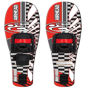 "AIRHEAD S-1400 Wide Body Combo Skis, 65"", pair Red / Black 65 Inches"