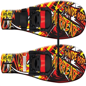 "AIRHEAD WIDE BODY Combo Skis, 53"", pair  Red / Black / Yellow 53 Inches"