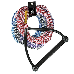 AIRHEAD Ski Rope, 4 Section Multi-Color 4 Section
