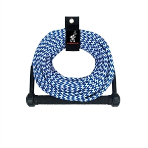 AIRHEAD Ski Rope, Tractor-Grip Handle, 1 Section Blue / White 1 Section