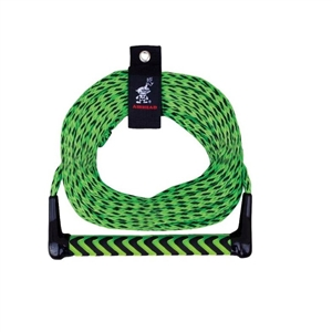 AIRHEAD Watersports Rope, EVA Handle, 1 Section Green / Black 1 Section