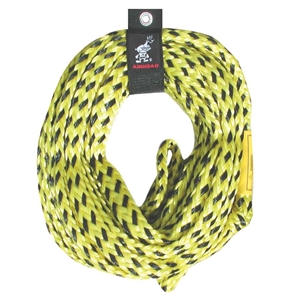 AIRHEAD 6000 lb. Tube Tow Rope Yellow Up to 6 Person