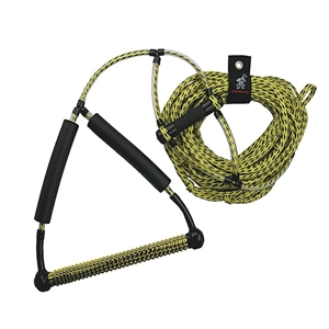 AIRHEAD Wakeboard Rope, Phat Grip, Trick Handle, Yellow Yellow 4 Section