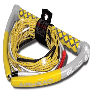 AIRHEAD BLING Spectra Wakeboard Rope, 75', 5 Section, Yellow Yellow 75 Feet