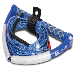 AIRHEAD BLING Spectra Wakeboard Rope, 75', 5 Section, Blue Blue 75 Feet