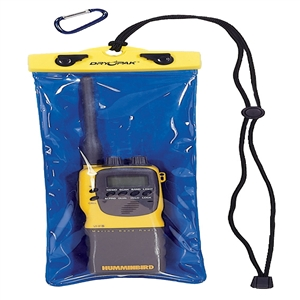 DRY PAK VHF Radio Case, 5 x 12 Yellow / Blue 5 x 12 Inches