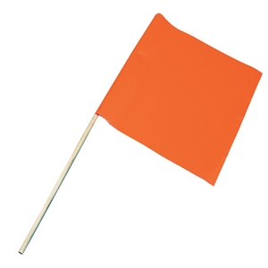 Water Ski Flag, Vinyl, Display Box Orange X