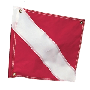 "Diver Down Flag, 20"" x 24"", Stiffener Red / White 20 x 24 Inches"