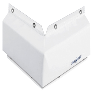 "HULL HUGR Dock Bumper, Corner 12"" x 6"" x 4"" White 12 x 6 x 4 in"