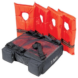 T-BAG, T Top Bag, Holds 4 PFD's Black 0