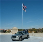 Flagpole To Go Fiberglass 28' with Tire Mount