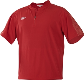 Rawlings Adult Short Sleeve Launch Cage Jacket - Scarlet
